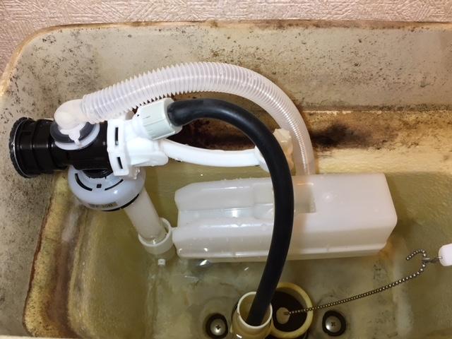タンク内の水漏れ