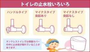 トイレの止水栓いろいろ
