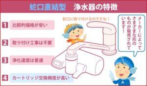 蛇口直結型 浄水器の特徴
