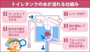 トイレタンクの水が流れる仕組み